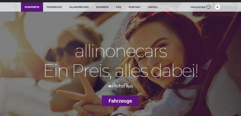 allinonecars – Auto Abo – Ein Preis, alles dabei.