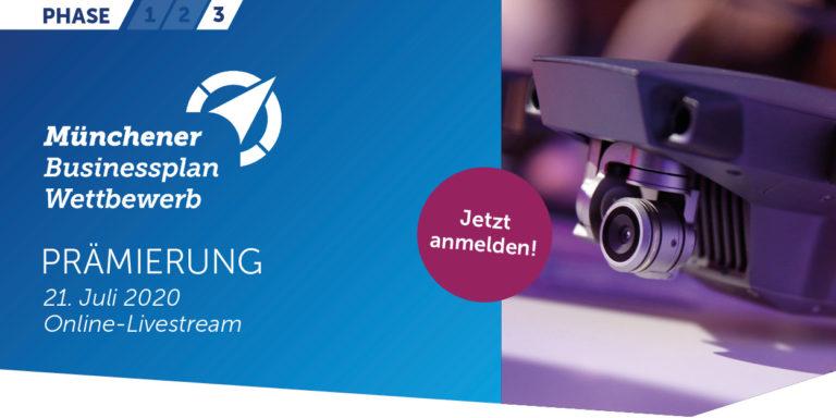 Heute ab 18:00 Uhr: Livestream zum Finale im Münchener Businessplan Wettbewerb