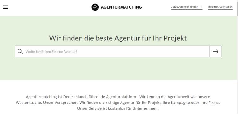 Agenturmatching – die finden die beste Werbeagentur für Euer Projekt