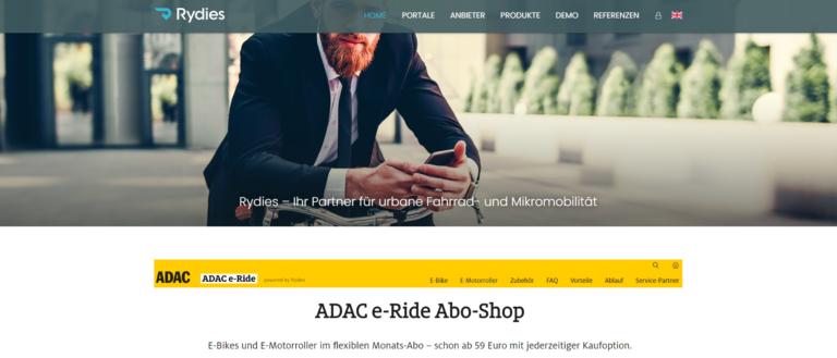 Rydies betreibt neue E-Mobilitäts-Abos für den ADAC und BOGESTRA