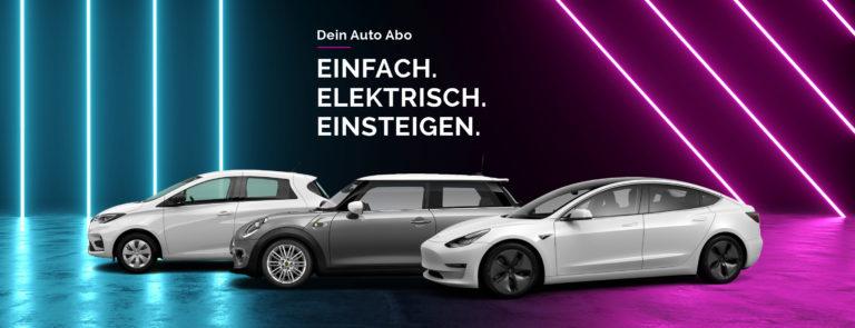 Cluno mit Tesla Nummer Eins Anbieter für E-Mobilität im All Inclusive Auto Abo