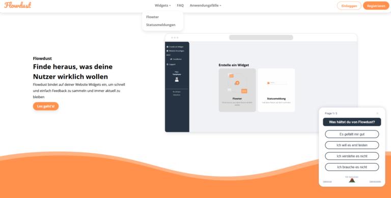 Flowdust – das Feedback-Tool für Eure Website