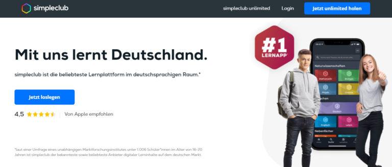 simpleclub – die Lernplattform Nr. 1 in Deutschland