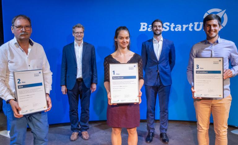 BioTech-Startup NanoStruct gewinnt Finale im Businessplan Wettbewerb Nordbayern von BayStartUP