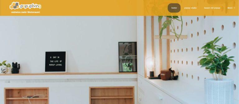 popup living ermöglicht es auch auf kleinem Raum groß zu Leben